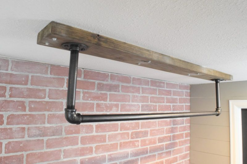 How To Make A Ceiling Mounted Pull Up Bar Diy Pull Up Bar Diy