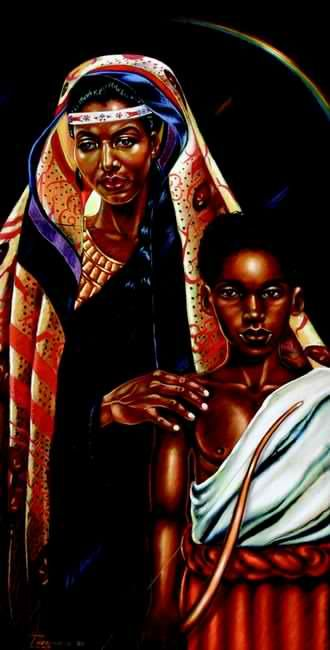 "Hagar and Ishmael"" by Alan Jones | Black art pictures, Blacks in ..."
