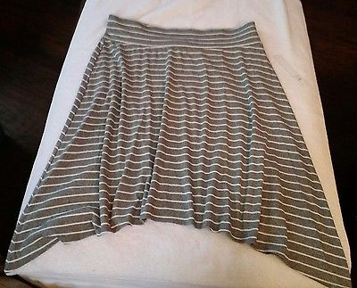 Joe B by Benbasset Womens Gray with White Stripes Pull On Skirt Size 3X NEW