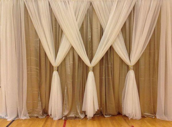 Elegant Curtain Backdrop Wedding Curtain Backdrops Head Table Wedding Backdrop
