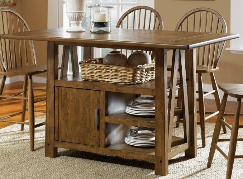 Farmhouse Center Island Table With Images Kitchen Table With
