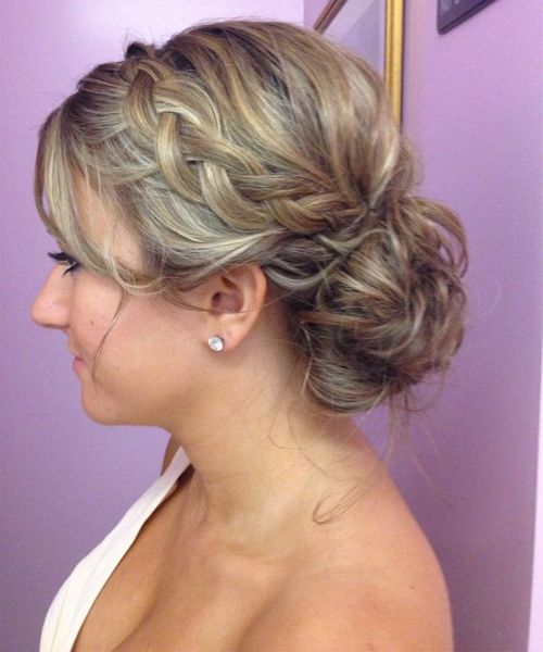 Updo Hairstyles 2019 Best Hairstyles For Formal Occasions Messy Hairstyle Hair Styles Wedding Hair And Makeup Bridesmaid Hair