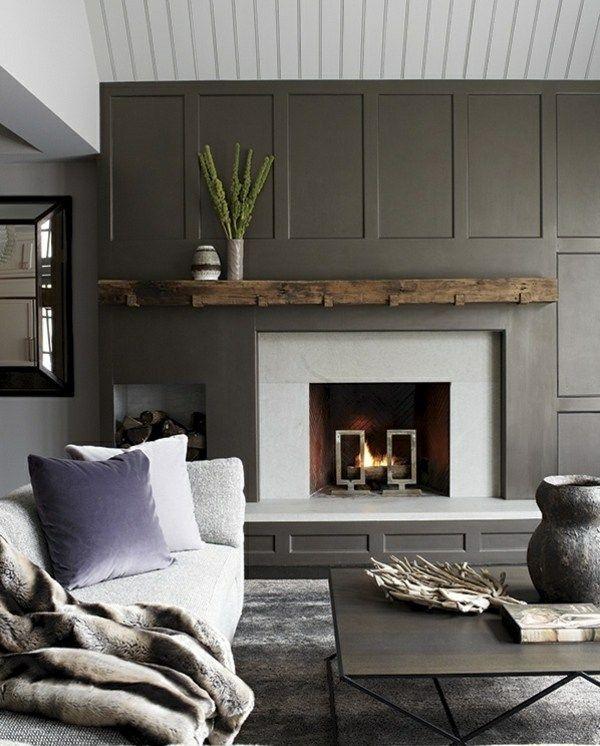 Rustikale Einrichtung Ideen für ein Wohnzimmer im Landhausstil - offene feuerstelle wohnzimmer