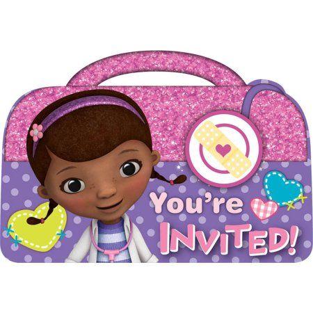Disney Junior Doc Mcstuffins Invitations Walmart Com In 2020 Doc Mcstuffins Birthday Party Invitation Doc Mcstuffins Party Supplies Doc Mcstuffins Birthday Party