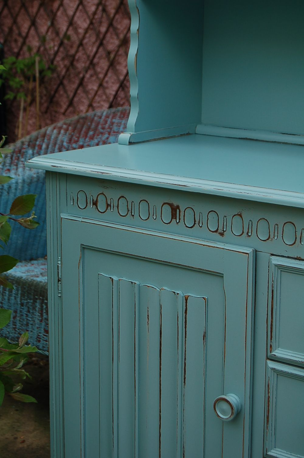 Best Vintage Dresser Hand Painted And Distressed In F Dix Blue 400 x 300