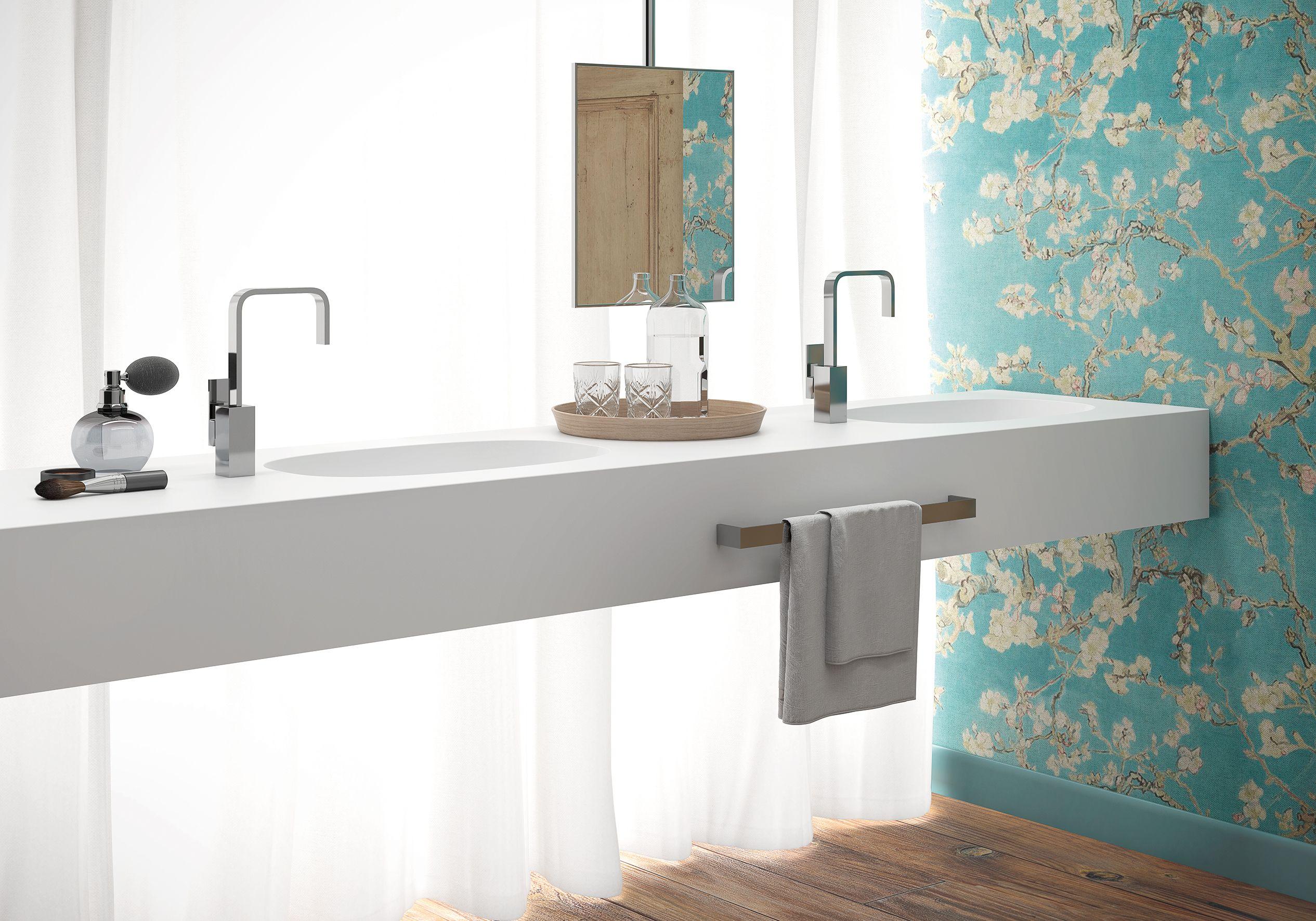Lavabo encimera | Platos de ducha, Cuartos de baño, Toallero