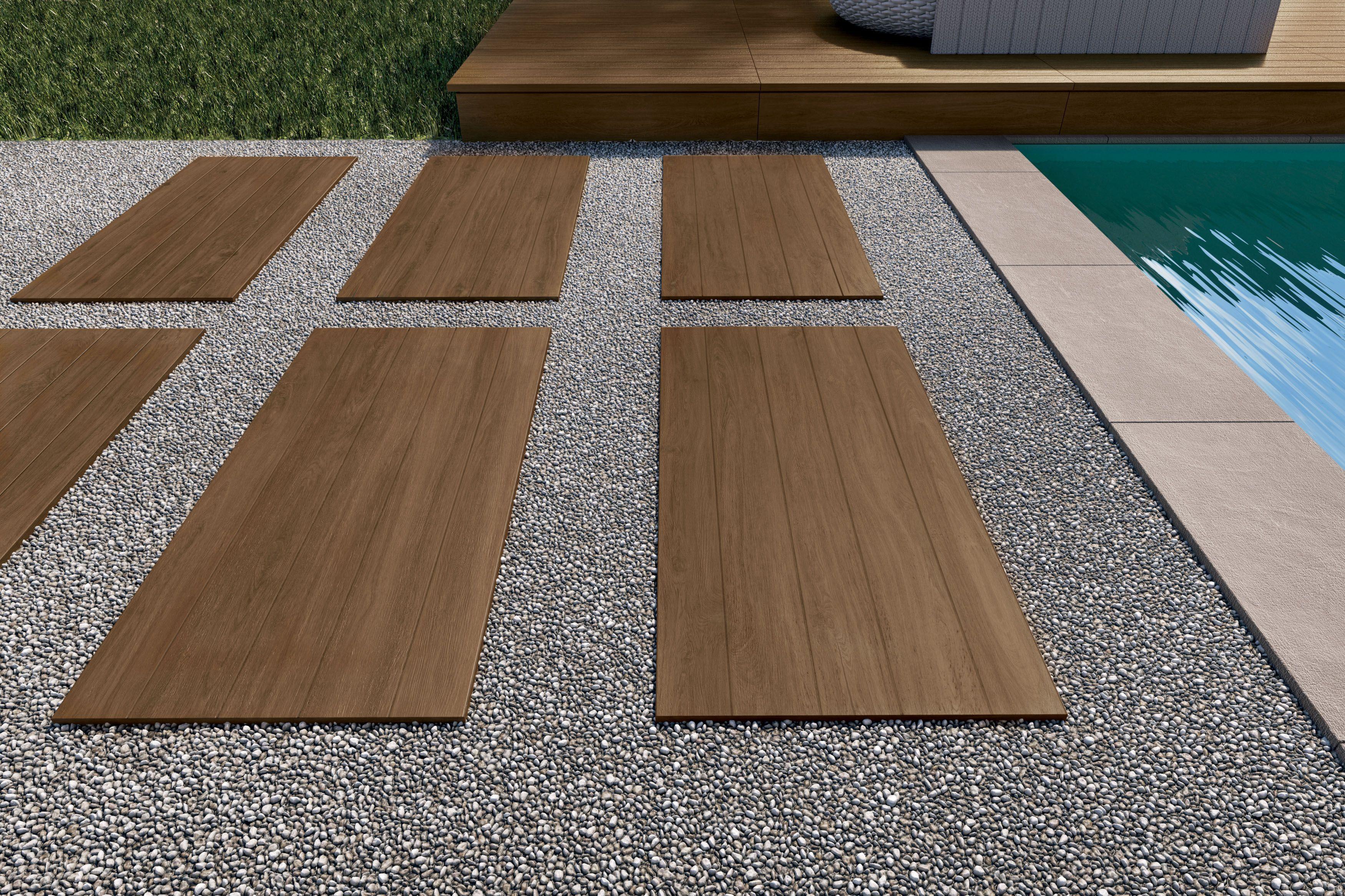 Sassuolo Prestige Brown 2cm 18x36 Exterior Porcelain Tile Exterior Tiles Tile Installation Outdoor Areas