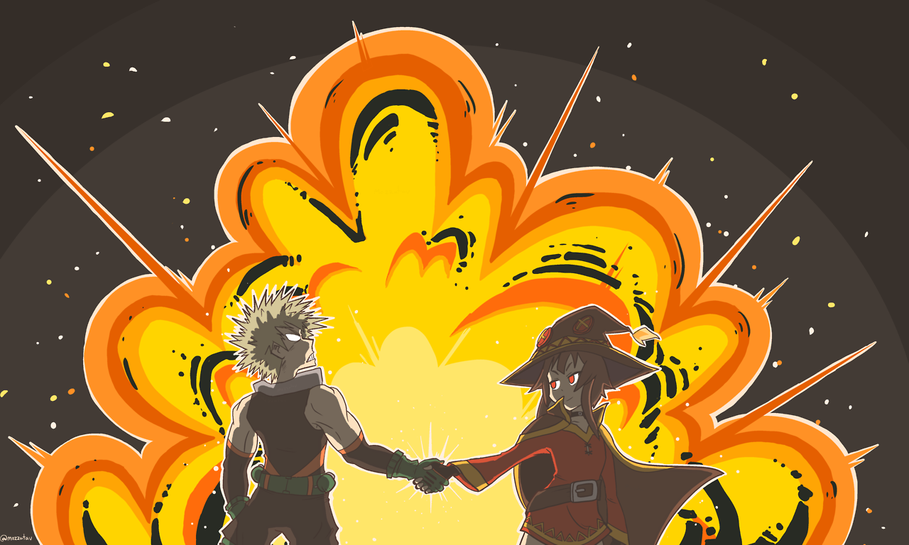 I Feel Like Megumin And Bakugo Could Forge A Friendship Through Their Mutual Love Of Explosions Anime Crossover Anime Anime Wallpaper