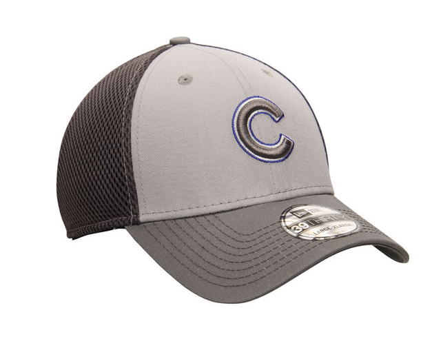 b57b6a9face New Era Chicago Cubs Gray MLB Grayed Out Neo 39THIRTY Flex Hat ...