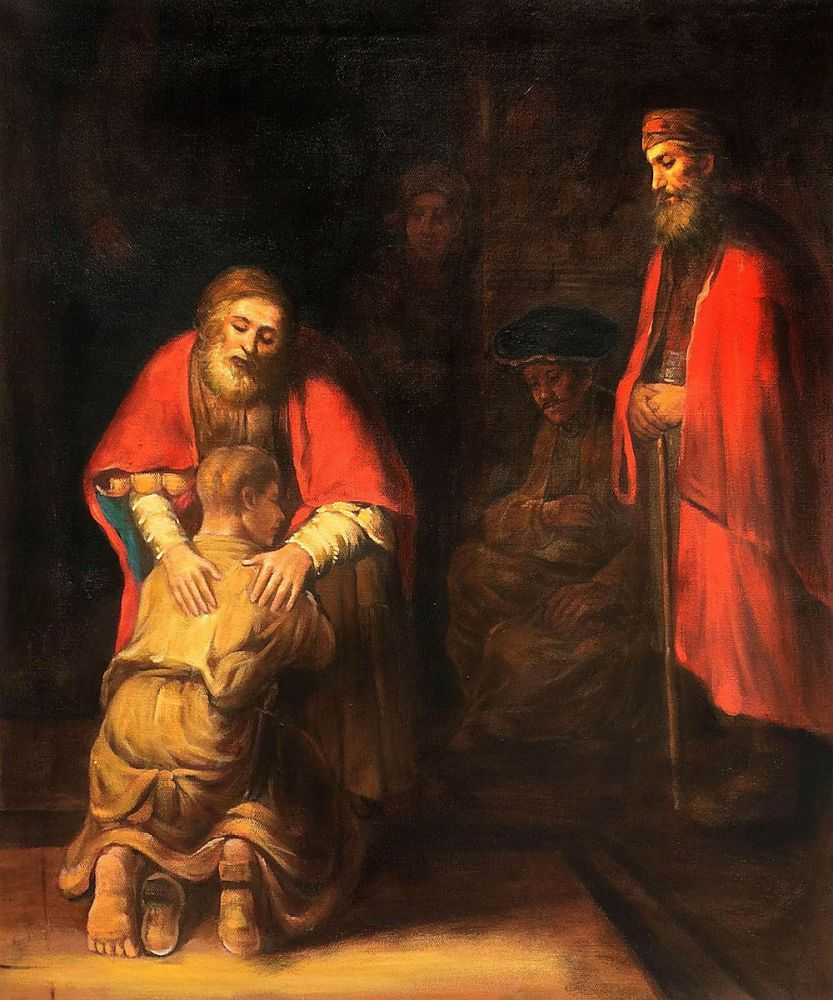 Rembrandt Return of the Prodigal Son Giclee Canvas Print