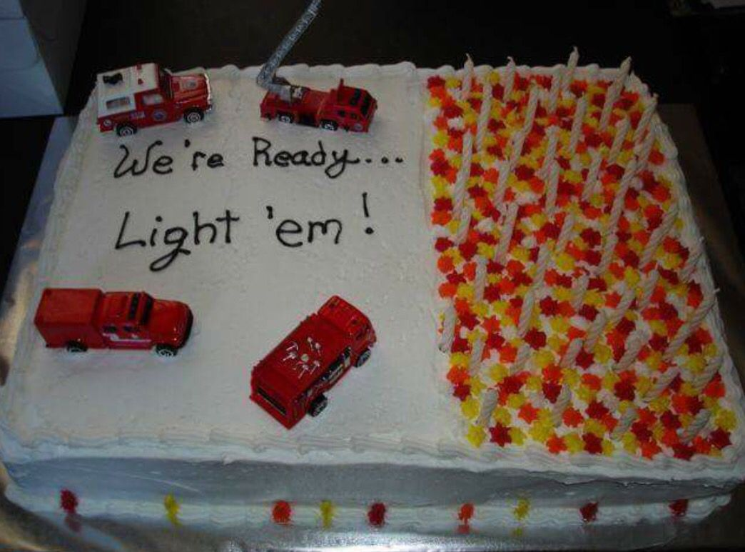 Pleasing Firefighter Birthday Cake With Images Firefighter Birthday Cakes Funny Birthday Cards Online Elaedamsfinfo