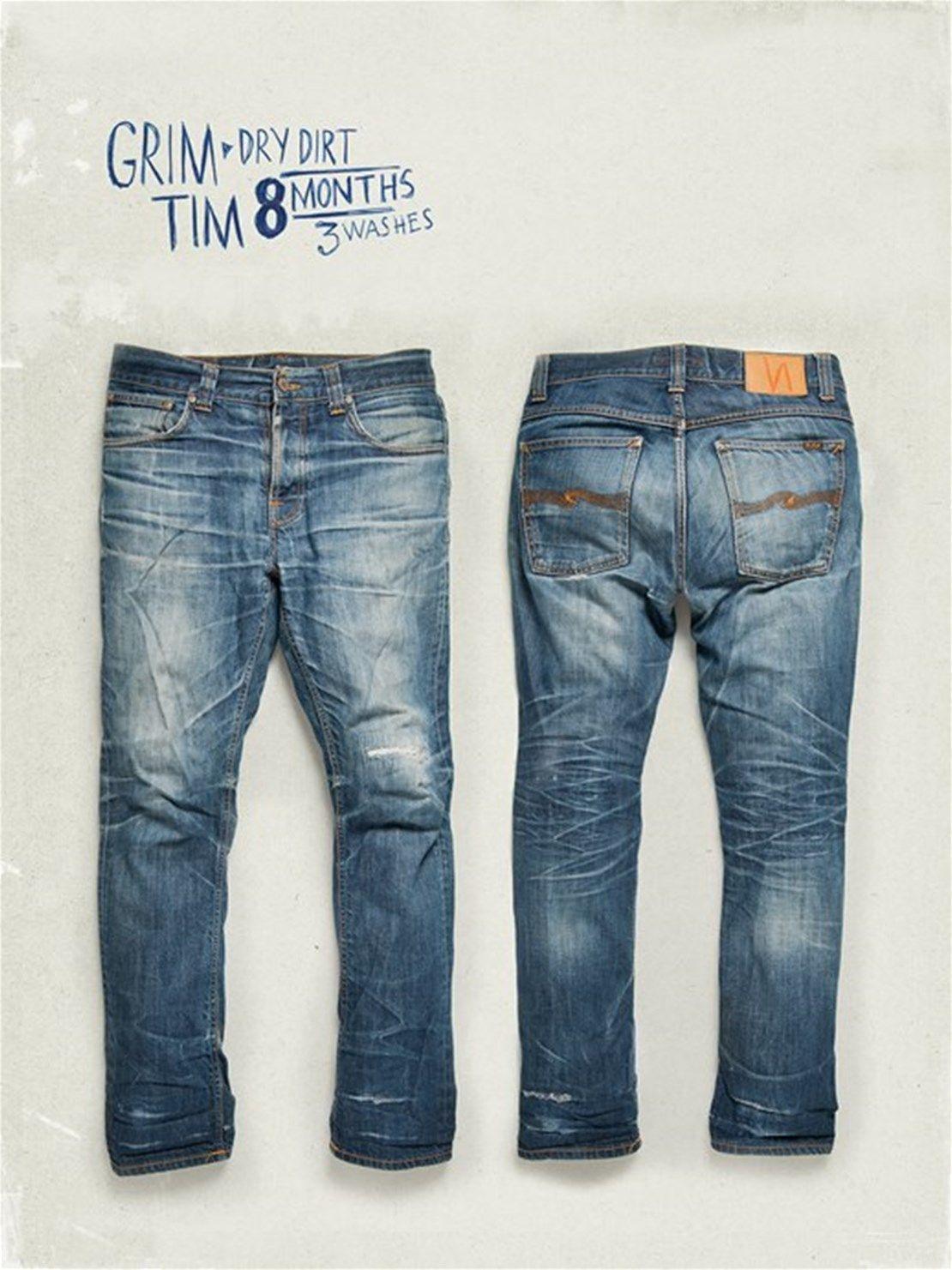 5ce0247274 Grim Tim Dry Selvage in 2019   Men's Wears   Nudie Jeans, Vintage denim,  Denim fashion