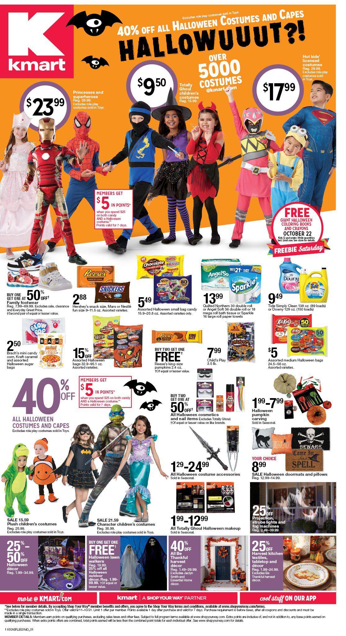 Kmart Halloween Ad Sale Http Www Igroceryads Com Kmart Weekly Ad Old Halloween Costumes Kmart Halloween