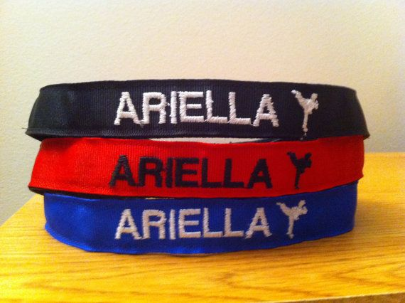 custom karate athletic headband match their belt color and add