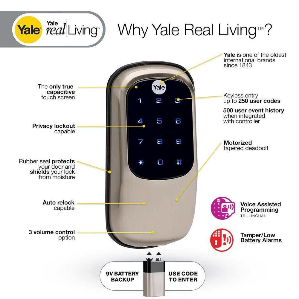 Keyless Door Lock Review Yale Keyless Door Lock 2 4