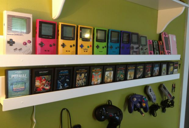 Gamer builds Room to Display her Retro Video Game Collection