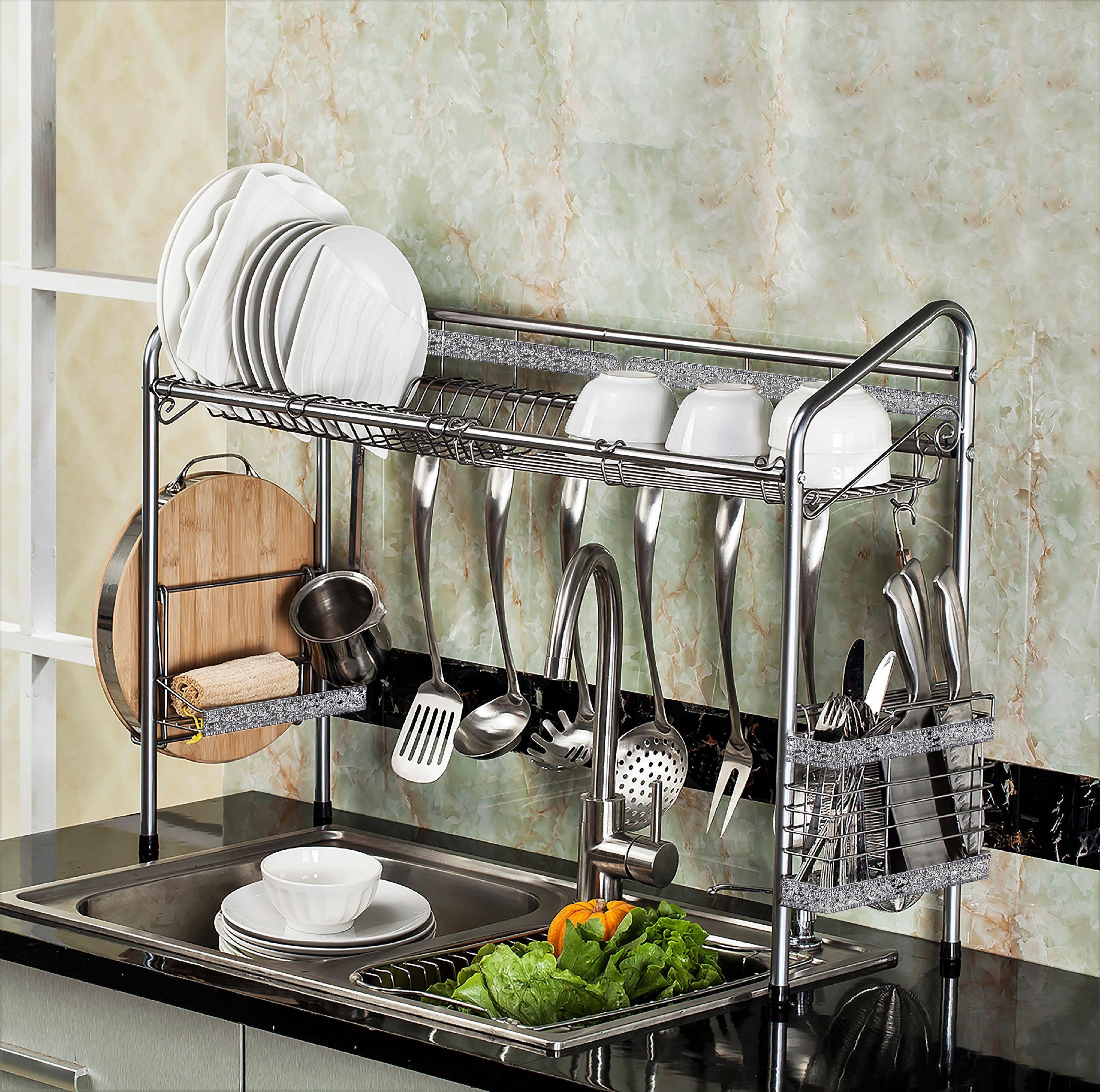 PremiumRacks Professional Over The Sink Dish Rack - Fully Customizable - Multipurpose - Large Capacity - Walmart.com