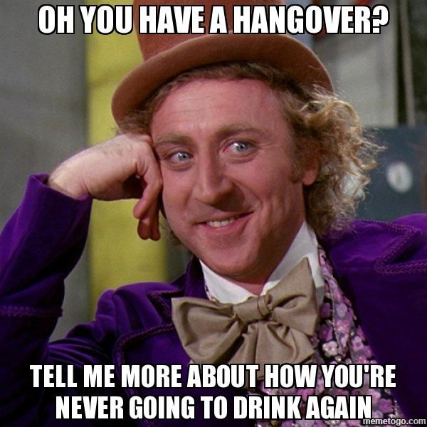 9520767a1aa476453a48167d78914450 oh you have a hangover? tell me more about how you're never going