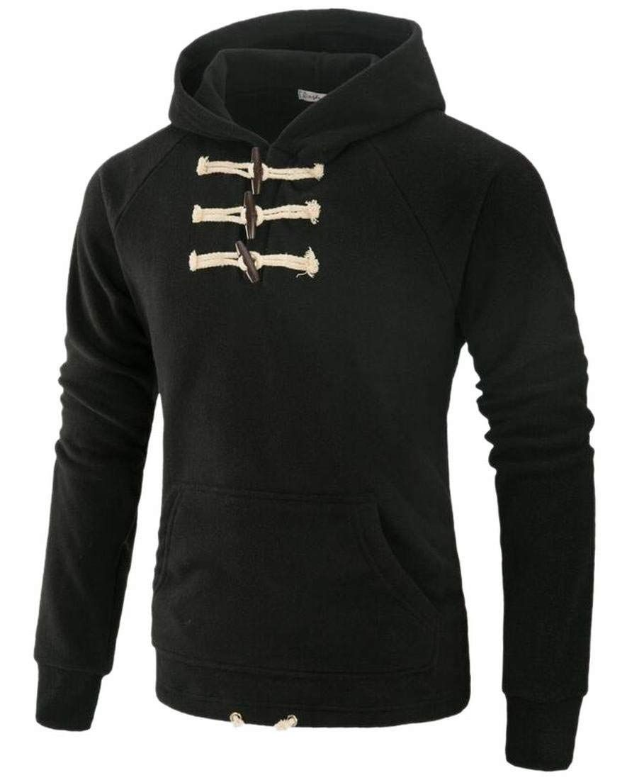 c4ee189e79  Affiliate  Generic Mens Pure Color Regular Fit Buttoned Hoodie Tops  Outwear Tracksuit at Amazon Men s Clothing store
