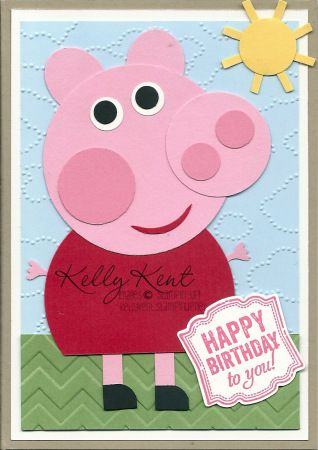 Peppa Pig Birthday Card Stampin Up Pinterest Pig Birthday