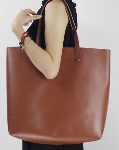 Handmade vintage rustic leather normal tote bag shoulder bag ...