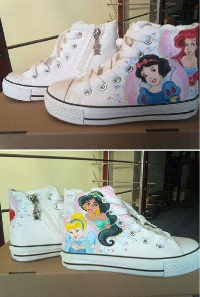 Disney Cartoon Custom Kids Shoes High Top Painted Canvas Shoes High Top Painted Canvas Shoes Shoes Painted Canvas Shoes Cartoon Shoes