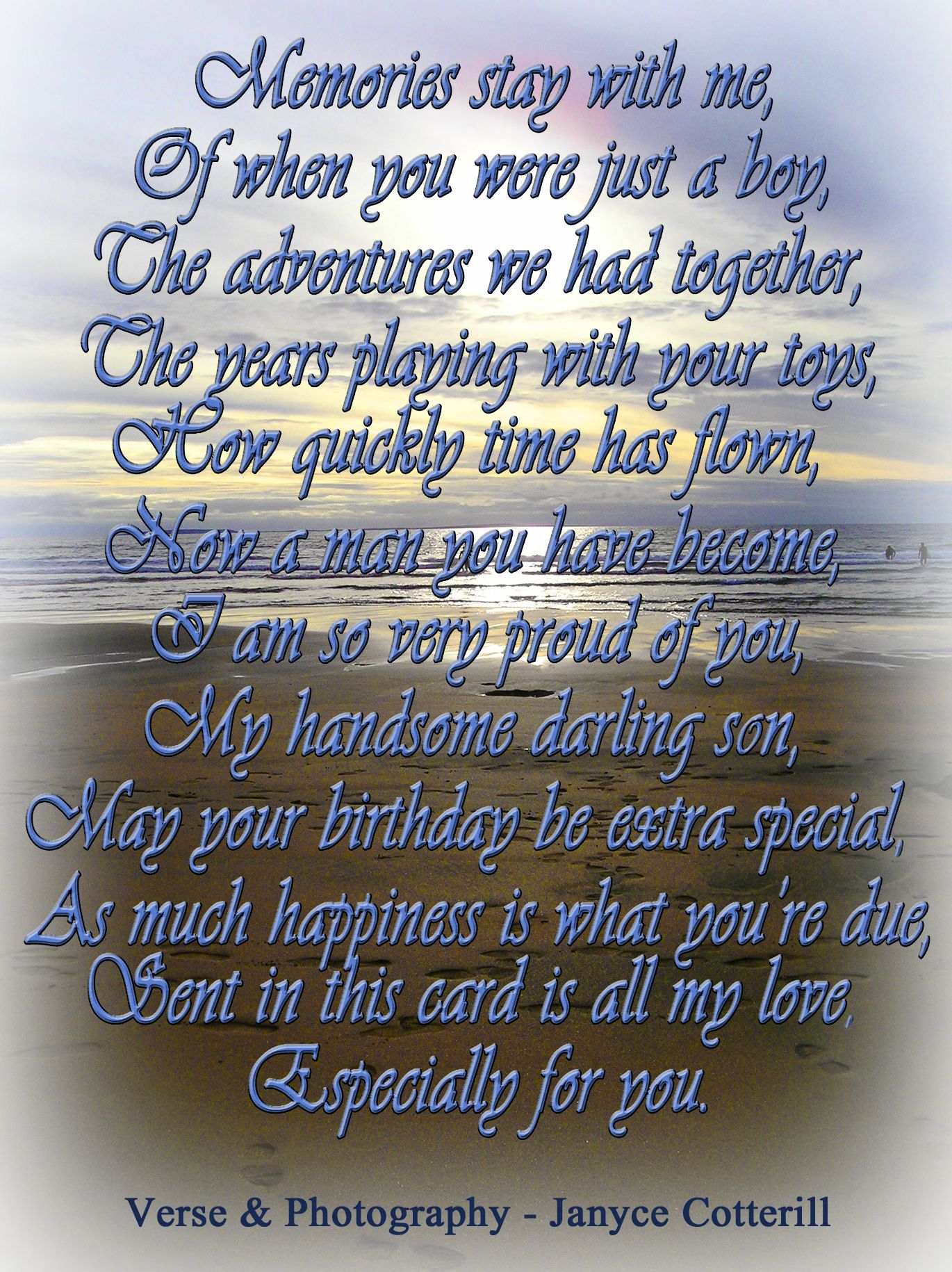 A Birthday Verse For A Son Feel Free To Use This Verse In Your - Free childrens birthday verses for cards