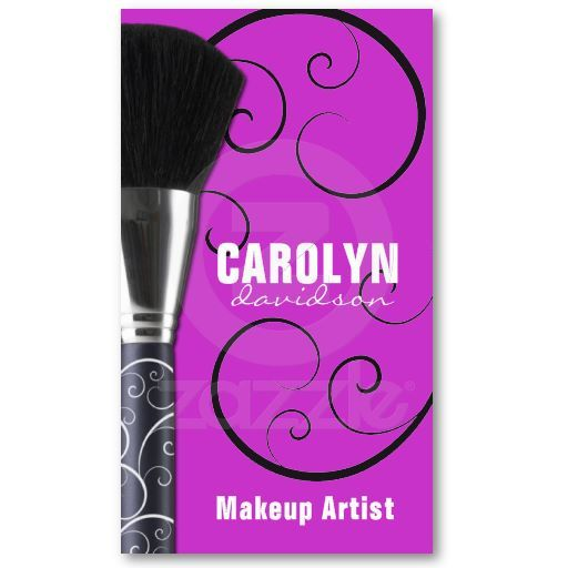 Fully Customizable Makeup Artist Business Cards. Designed by Colourful Designs Inc.