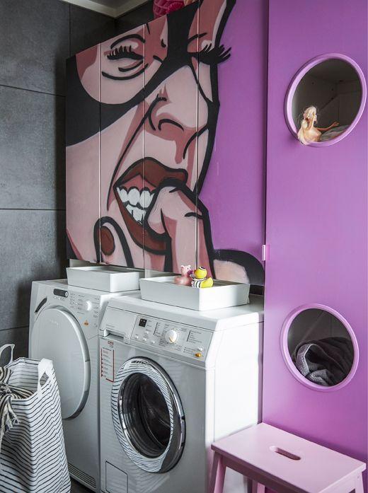 Die langweilige Waschküche - muss nicht sein! Hier wurden ...
