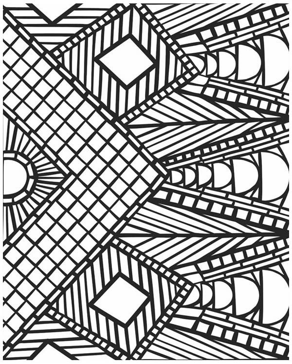 geometric mosaic coloring pages - Geometric Coloring Pages