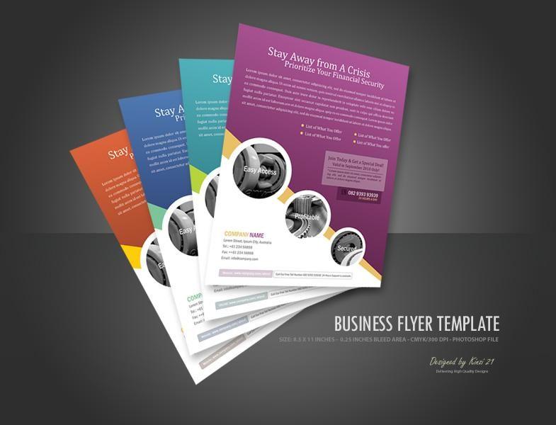 Circles Modern Graphic Design Pinterest Business Flyer