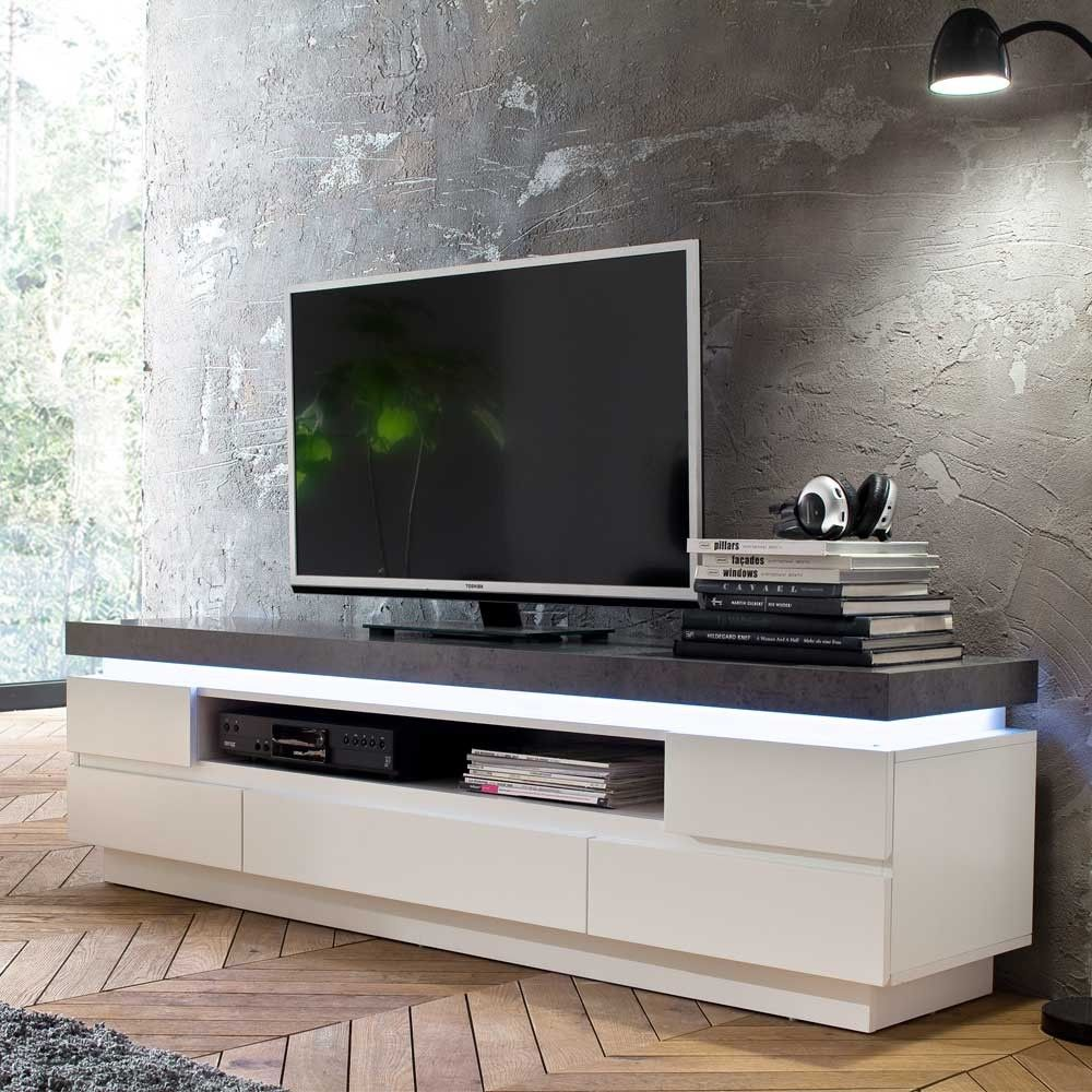 Design Lowboard Croscon In Weiss Grau Pharao24 De Tv Lowboard