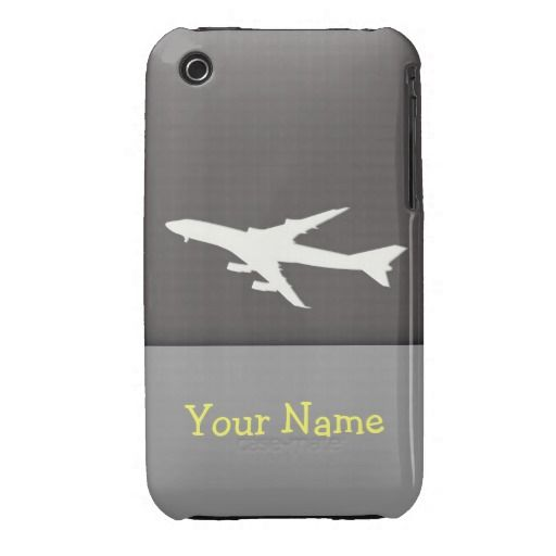 Airplane Design. Customize your name iPhone 3 Case-Mate Cases