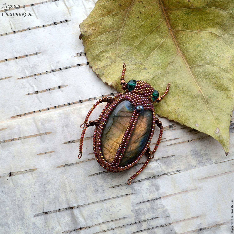 жук из бисера схема для начинающих фото