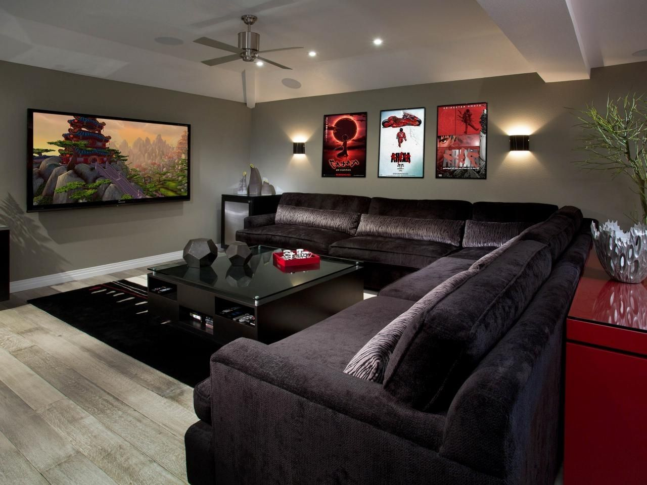 media room sectional sofas media room