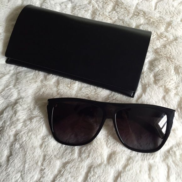 af1e83b5306 YSL SL1 Sunglasses - Black 100% Authentic