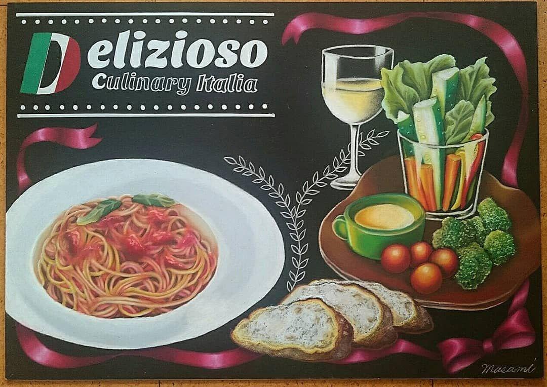 画像に含まれている可能性があるもの 食べ物 チョークアート チョーク 黒板チョークアート