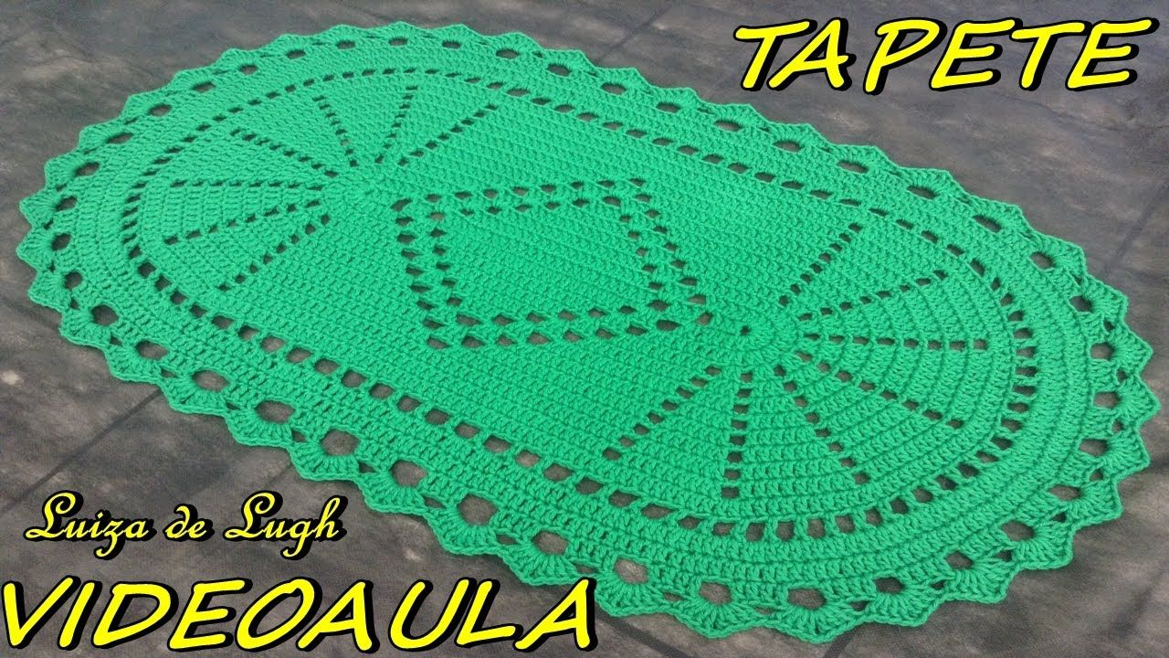 Tapete Oval Simples 1 Luizadelugh Tapete De Croch Pinterest  -> Tapete De Croche Oval Simples Passo A Passo