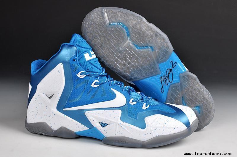 White Blue Nike LeBron 11