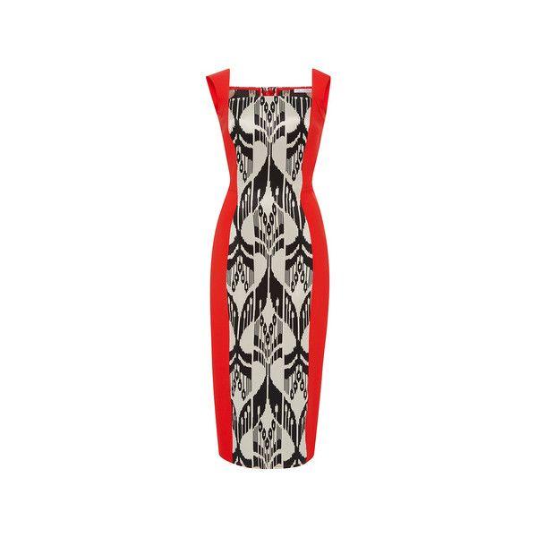 Sleeveless Square Neck Pencil Dress | Moda Operandi ($1,985) via Polyvore featuring dresses