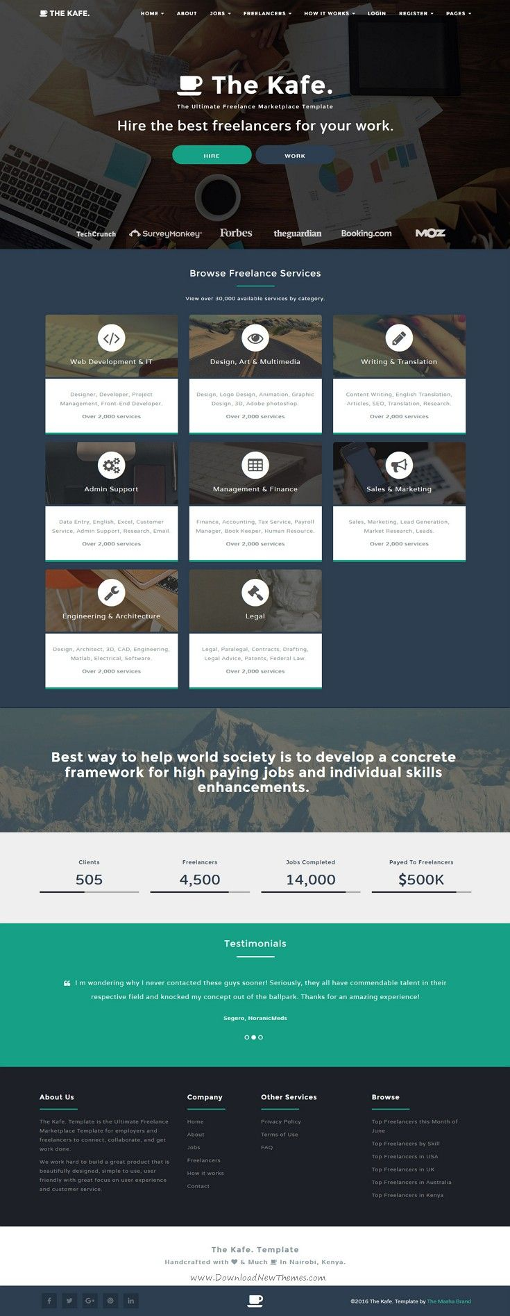 The Kafe - Ultimate Freelance Marketplace Template | Template