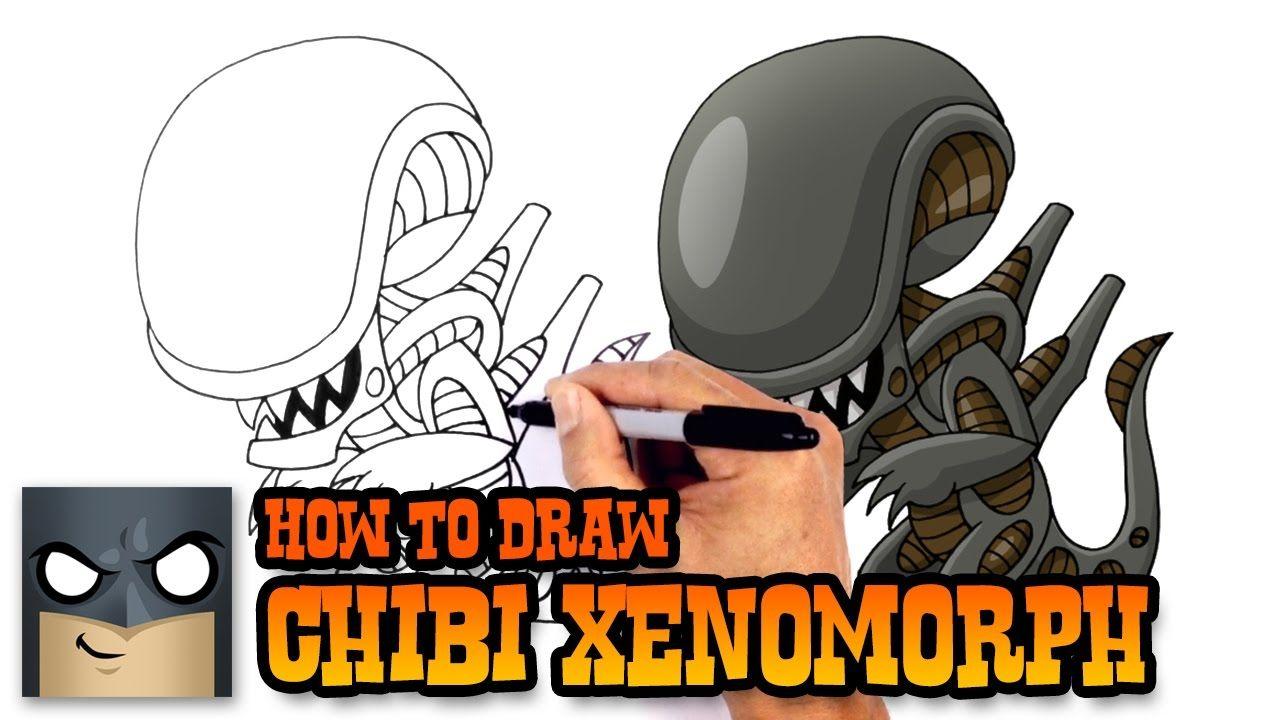 How to Draw Xenomorph Alien Alien drawings, Xenomorph