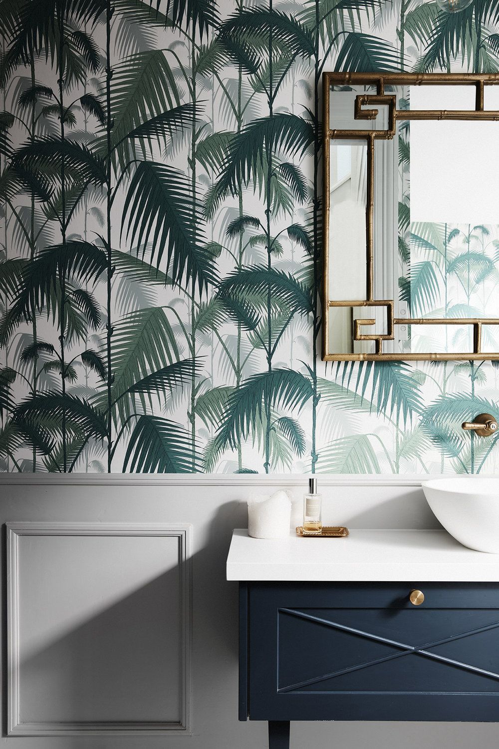 British Colonial Style Powder Room Tropical Style Interior