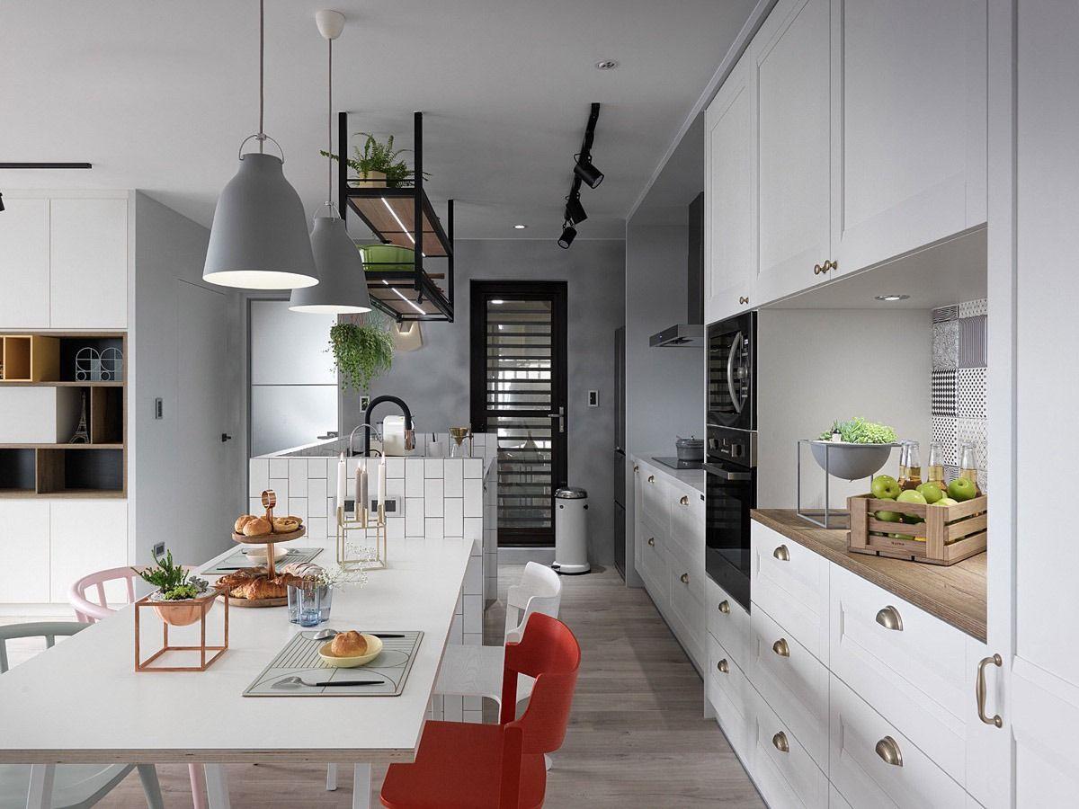 A Scandinavian Style Apartment That Exudes Chic Comfort Scandinavian Kitchen Design Kitchen Design Kitchen Interior