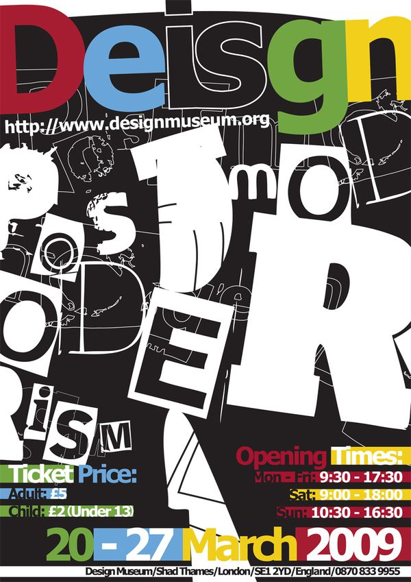 Poster Design For An Exhibition On Post-modern Design At