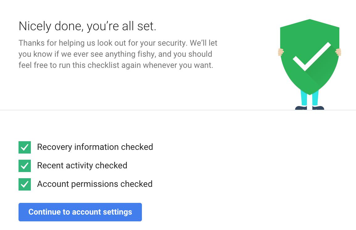 Si realizan una simple y rápida revisión de seguridad, Google les regalará 2 GB de espacio adicional en su cuenta de Google Drive!