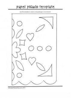 resultado de imagen para free easy fiesta papel picado templates ideas pinterest papel. Black Bedroom Furniture Sets. Home Design Ideas