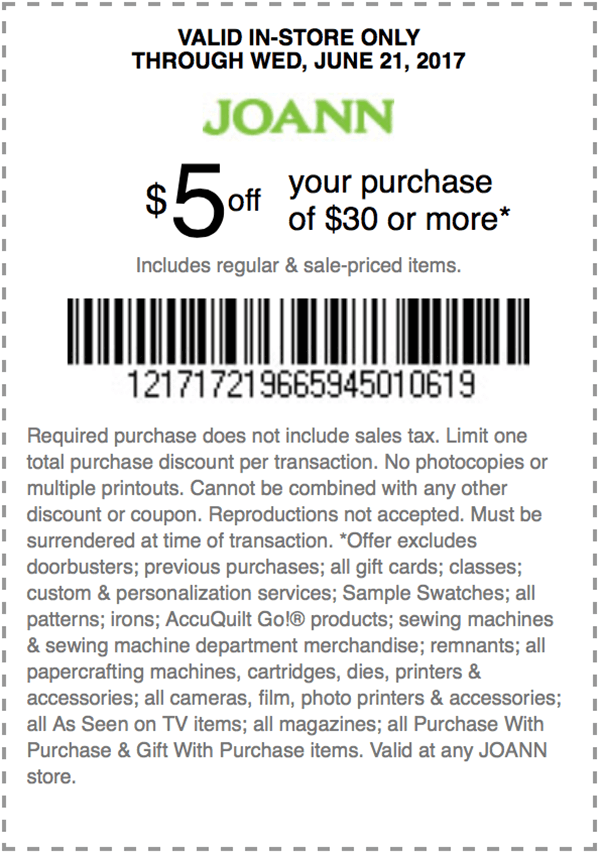 5 Off Your Purchase Of 30 Or More At Joann S Http Www Jdoqocy Com Click 8073674 11937226 Afflink Coupons Kohls Coupons Shopping Coupons Printable Coupons