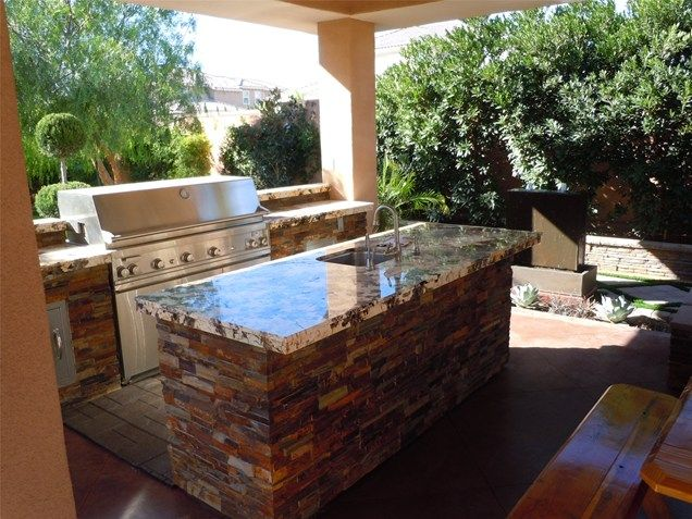 Granite Countertops Grill Outdoor Kitchen Newtex Landscape Inc Alluring Outdoor Kitchen Countertops Inspiration Design