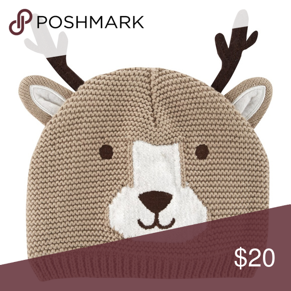 cf5989a71b3 Carters Reindeer Knit Hat Baby Girl Boy Unisex Give your cutie an even  cuter look for